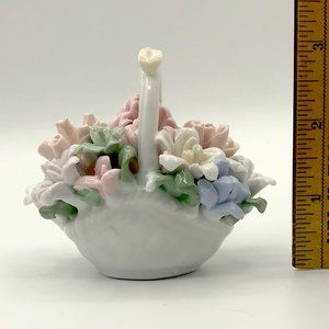 Other - Ceramic Flowers in Decorative Ceramic Basket